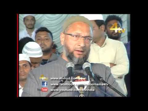 Asaduddin Owaisi Addressed Jalsa Milad-un-Nabi at Darussalam, Hyderabad