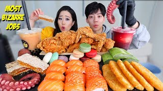 MOST POPULAR FOOD FOR ASMR! (Honeycomb + Fried Chicken + Aloe Vera ETC) MUKBANG 먹방 | Eating Show