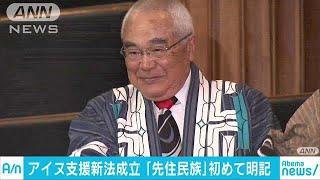 「先住民族」初めて明記 アイヌ民族支援新法成立(19/04/19)