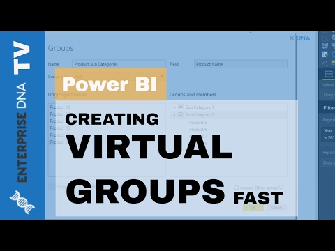 How To Create Virtual Groups & New Dimensions Fast in Power BI