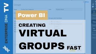 Wie Erstellen Sie Virtuelle Gruppen & Neue Dimensionen Fallen in Power BI