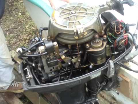 Tohatsu 25 Hp with a problem - YouTube