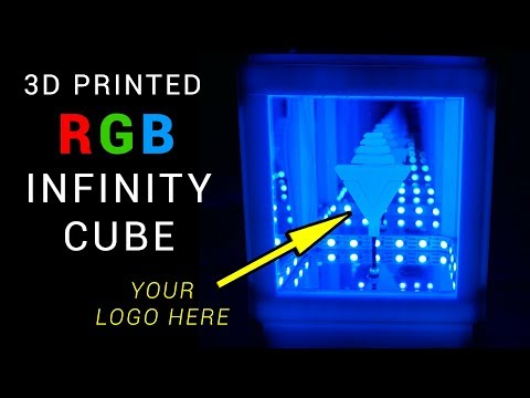 3D printed infinity cube - Arduino RGB Neopixel project