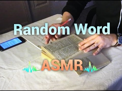 ASMR Random Word Generator