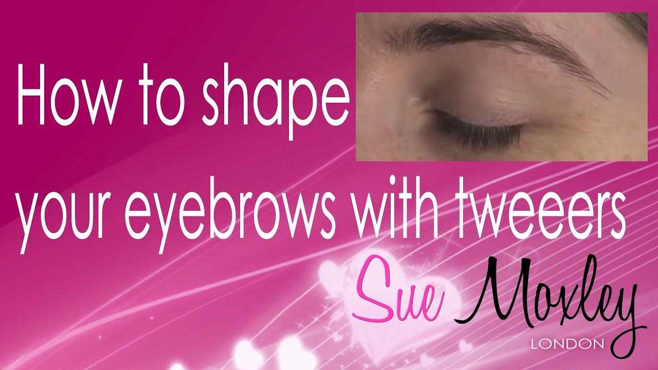 How To Shape Your Eyebrows With Tweezers Youtube
