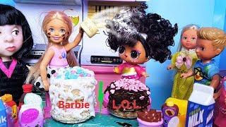 ЛОЛ ПРОТИВ БАРБИ! ЧЕЙ ТОРТ ПОБЕДИТ В КОНКУРСЕ? Куклы ЛОЛ сюрприз мультики с Барби
