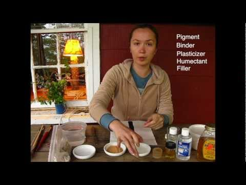 Making watercolor paint out of natural pigment, tutorial.
