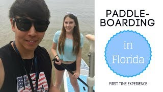 AMWF Couple | Our LAST Florida Vlog! + PADDLE BOARDING | AKA국제커플 패들보트를 타러가다! Video