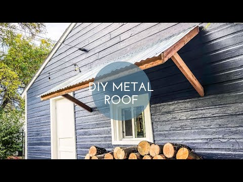 How to Build an Overhang Metal Roof // DIY