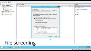 Configuring File screening in windows server 2012