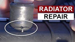 plastic radiator repair fix radiator leak