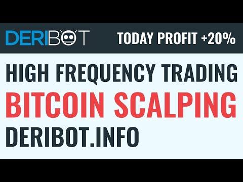 SCALPING Bitcoin Trading. Algo Crypto Trading Robot DeriBot Trade BTC On Deribit Live