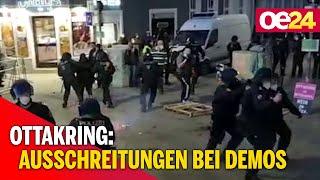Ausschreitungen bei Demos in Ottakring: Verletzte, eine Festnahme