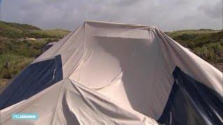 Kampeerders op Texel in de problemen