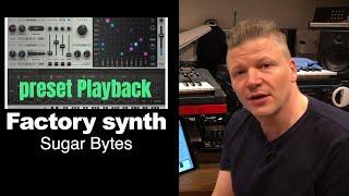 Sugar bytes factory sound demo - hear how it sounds