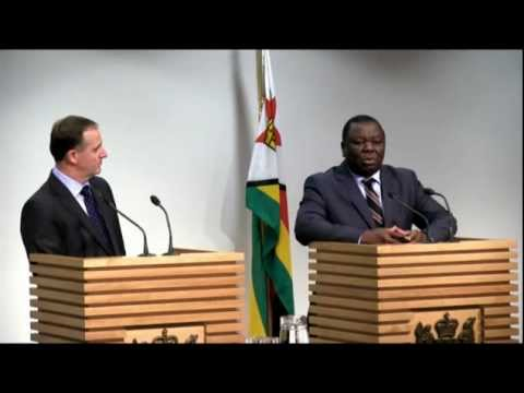 Joint press conference - John Key and Zimbabwe PM Morgan Tsv