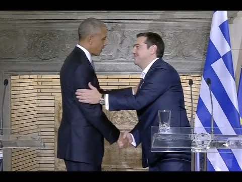 Obama With Alexis Tsipras In Greece - Full News Conference