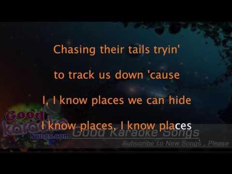 I Know Places - Taylor Swift ( Karaoke Lyrics )