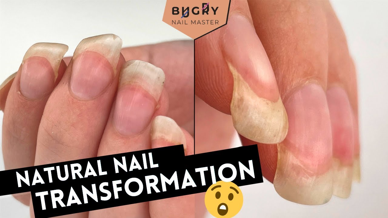 Unbelievable Transformation On NATURAL Nails 😱