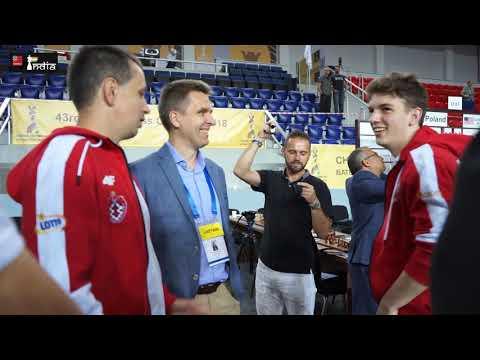 Final moments of Poland beating USA at the Batumi Olympiad 2018 | Duda vs Caruana
