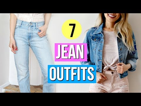 How To Style Jeans! 7 Outfit Ideas!