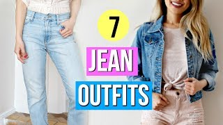 How to Style Denim Jeans! 7 Outfit Ideas!