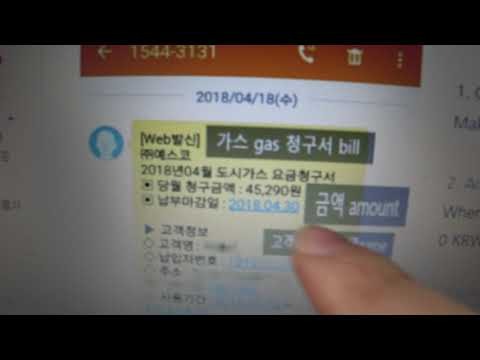 Seoul Gas bill of two bedroom apt