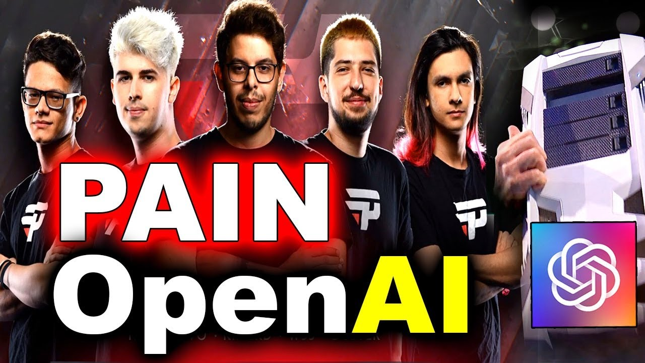 PAIN vs OpenAI - HUMANS vs AI - AMAIZING SHOWMATCH #TI8 DOTA 2