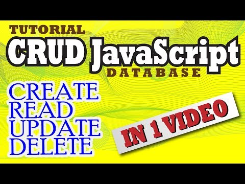 JavaScript CRUD ( CREATE  READ UPDATE DELETE )