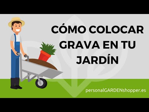 C mo colocar grava o gravilla en tu jard n t mismo youtube for Colocar adoquines en jardin