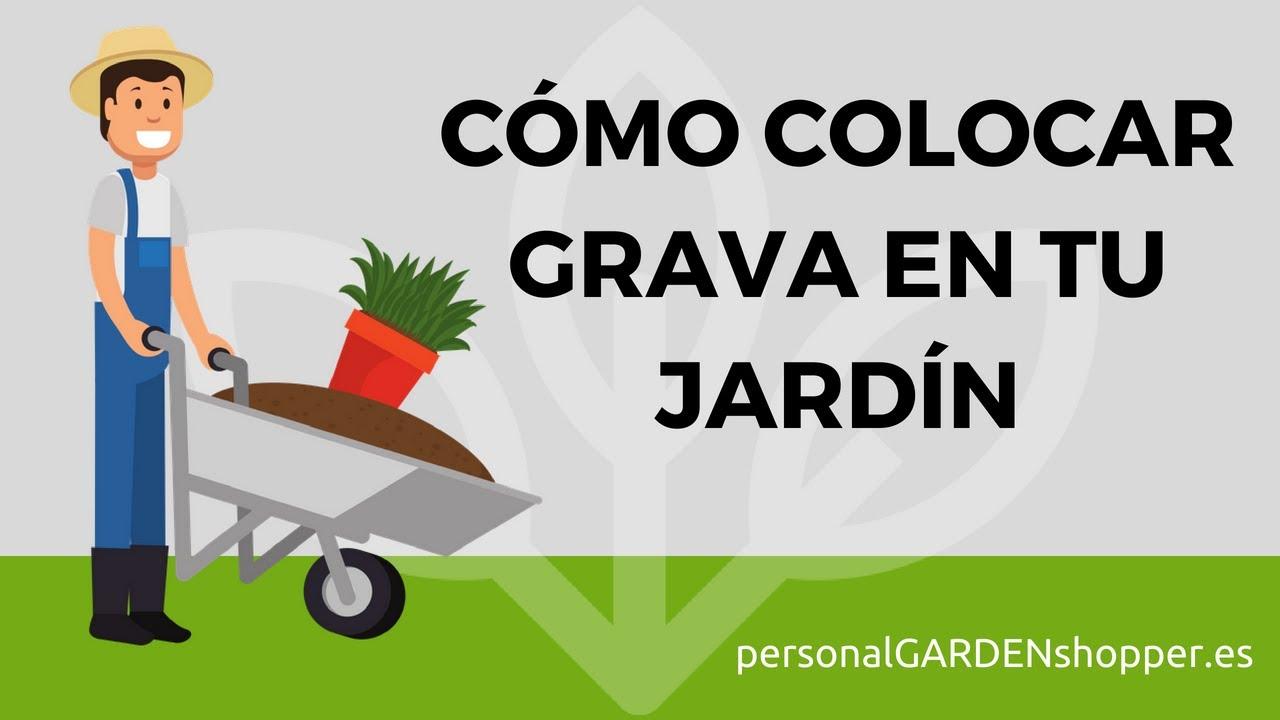 C mo colocar grava o gravilla en tu jard n t mismo youtube - Como disenar un jardin grande ...