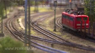 Viel Eisenbahnverkehr am Schlüchterner Tunnel - Die Spur H0 Modelleisenbahn im Museum Schlüchtern