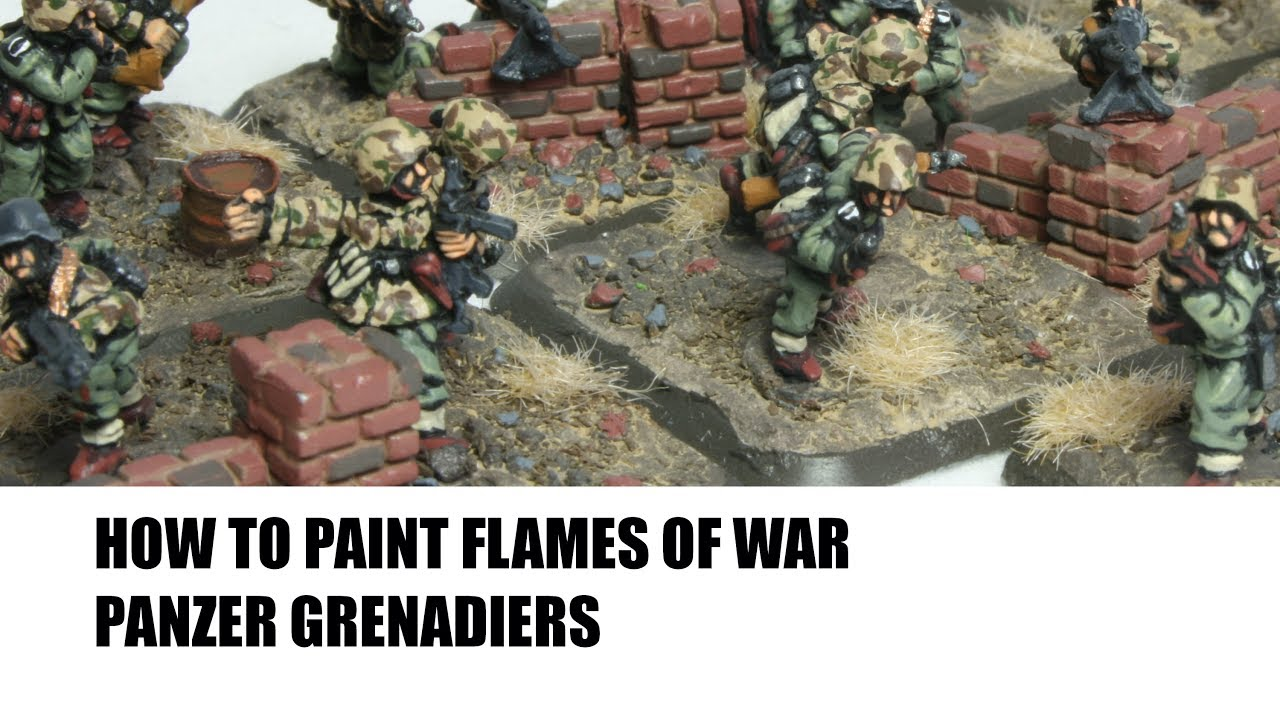 How to Paint 15mm Flames of War Panzer Grenadiers