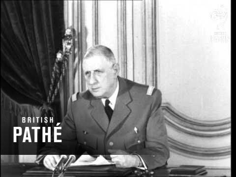 President De Gaulle Speaks On Algeria (1960)