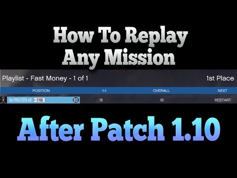 Gta 5 Online - How To Replay Missions After Patch 1.10