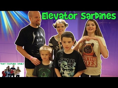Crazy Elevator Sardines  Hide and Seek / That YouTub3 Family