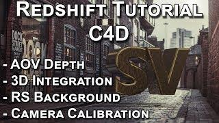 Redshift Tutorial / Camera Calibration and AOV Depth Tutorial