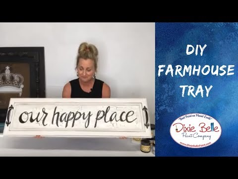 Download Farmhouse Crackle Tray Diy Project With Dixie Belle