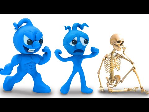 Tiny Joins The Skull Game - Funny Moment Stop Motion Animation Cartoons