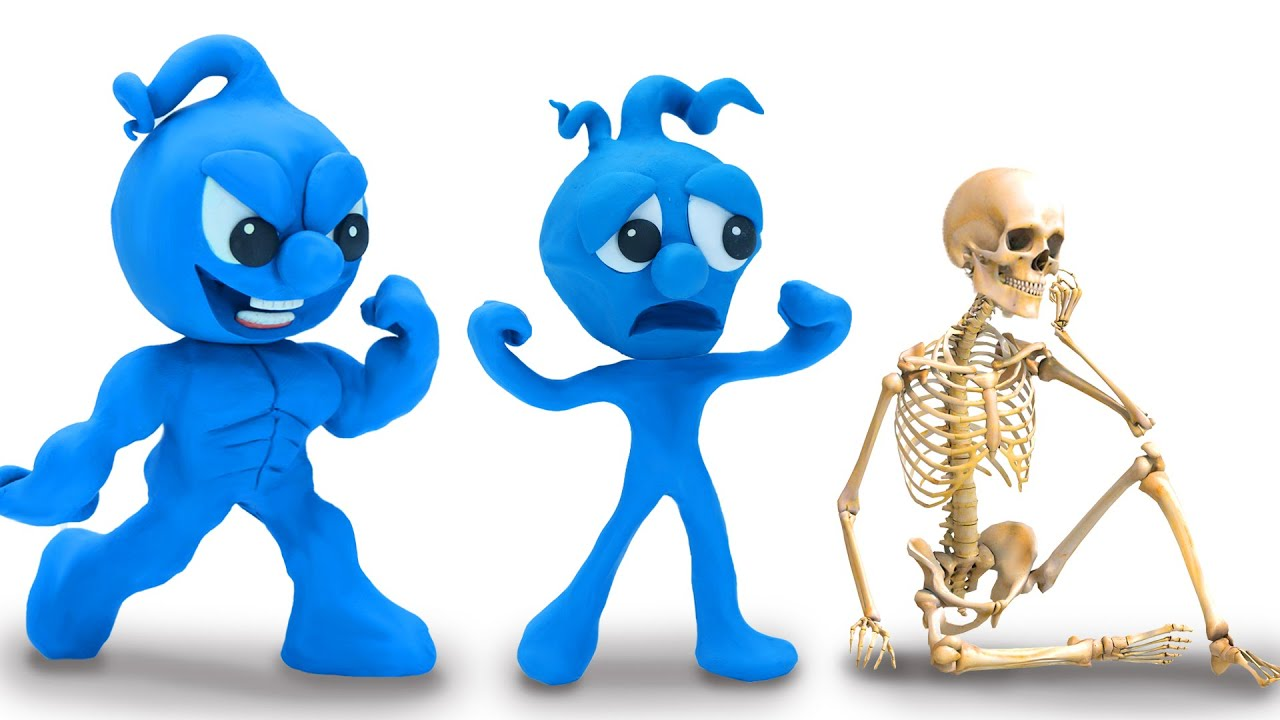 Download Tiny Joins The Skull Game - Funny Moment Stop Motion Animation Cartoons
