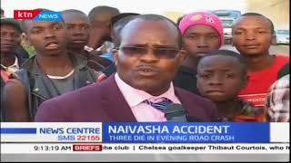 Three people die in road accident along Nakuru-Naivasha highway