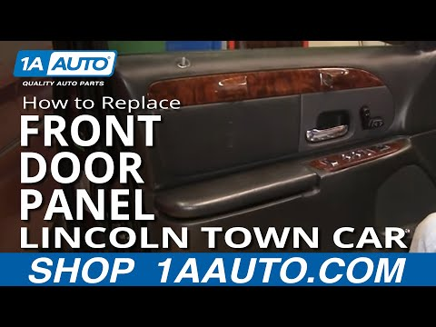 How To Install Remove Front Interior Door Panel Lincoln Town Car 98-02 1AAuto.com
