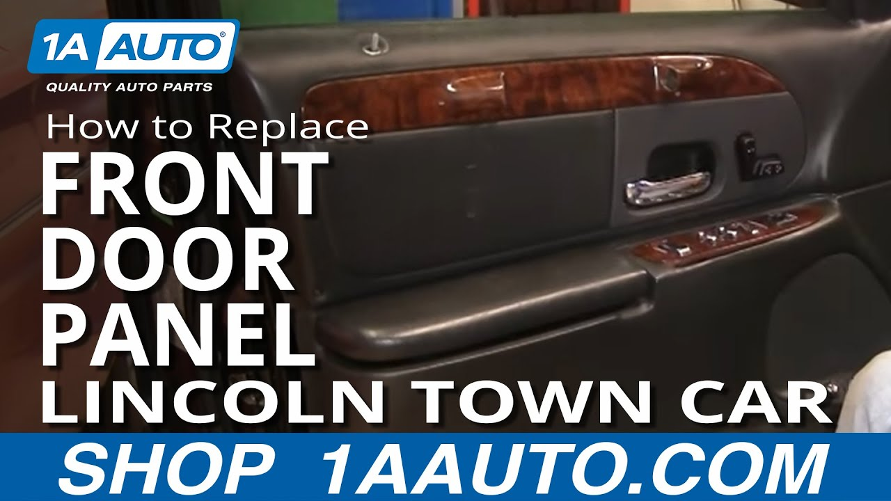How To Install Remove Front Interior Door Panel Lincoln Town Car 9802 1AAuto  YouTube