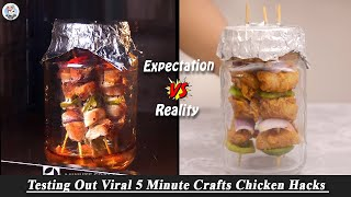 Testing Out Viral Food Hacks By 5 MINUTE CRAFTS   Testing Out 5 Minute Crafts Chicken Hacks   HP