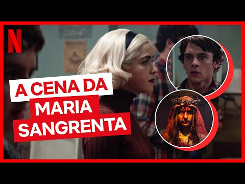 Elenco de O Mundo Sombrio de Sabrina conta como fez a cena Maria Sangrenta | Netflix Brasil