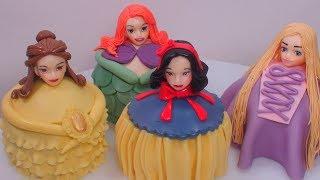 디즈니 공주들 컵케이크로 만들기