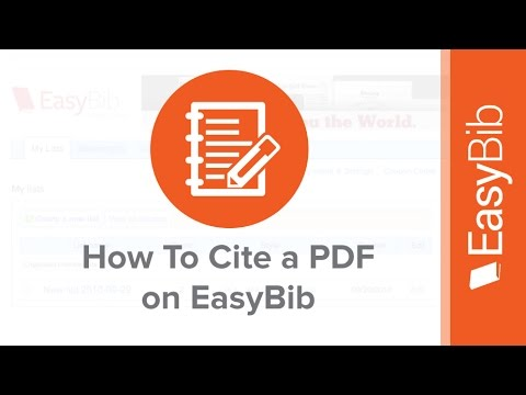 How to cite a pdf on easybib youtube ccuart