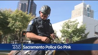 Sacramento Police Wearing Pink Ribbons In Support Of Breast Cancer Awareness
