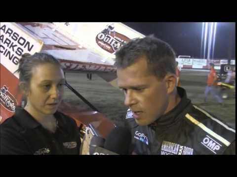 2015 World of Outlaws Sprint Car Series Victory Lane on Night 1 at Thunderbowl Raceway