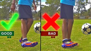 Crazy Soccer Skill: Air Rabona Like Rodriguez, Di Maria & Lamela Shot Tutorial